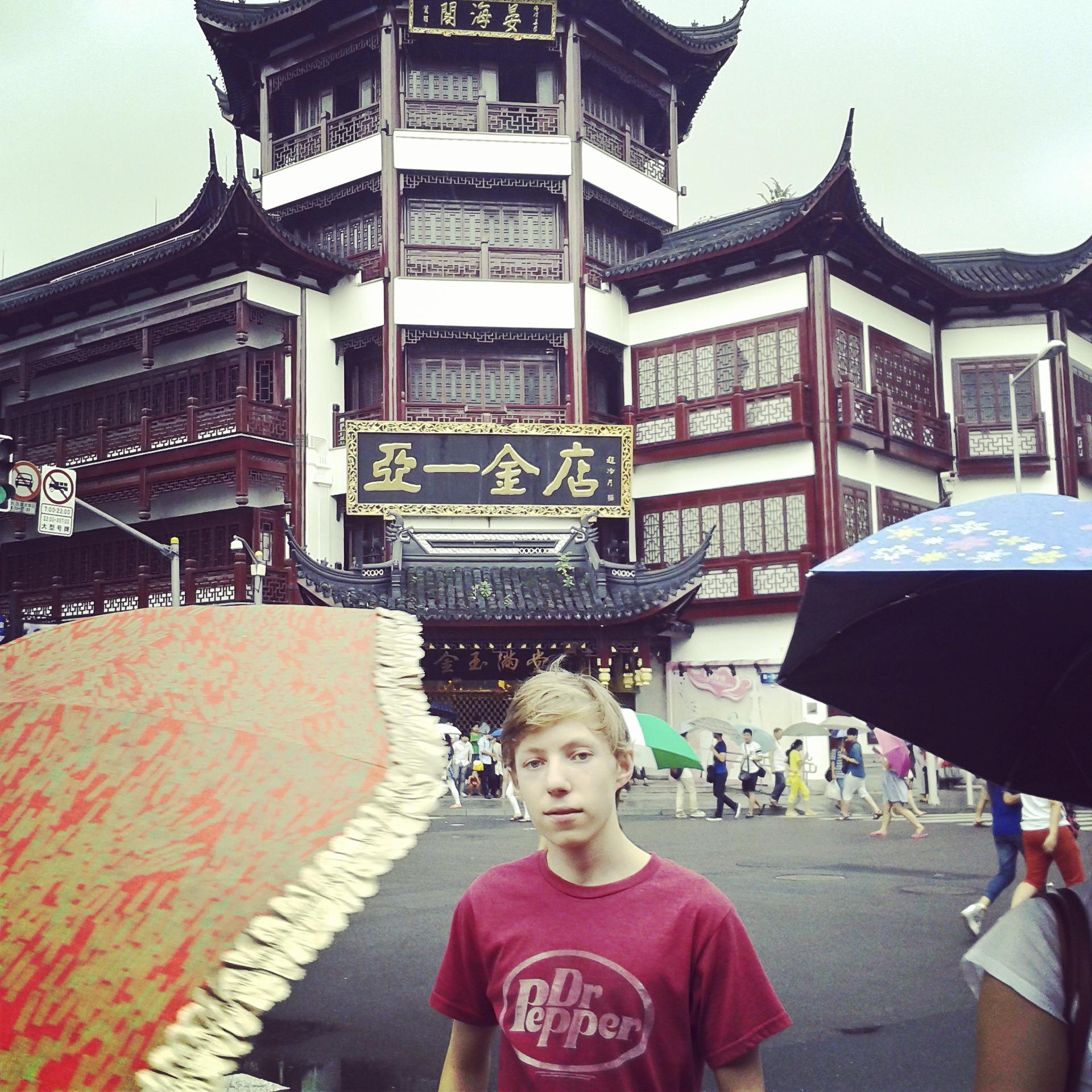 Í gamla bænum Shanghai, Kína